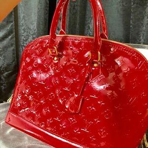 Louis Vuitton Alma GM Bag -Red